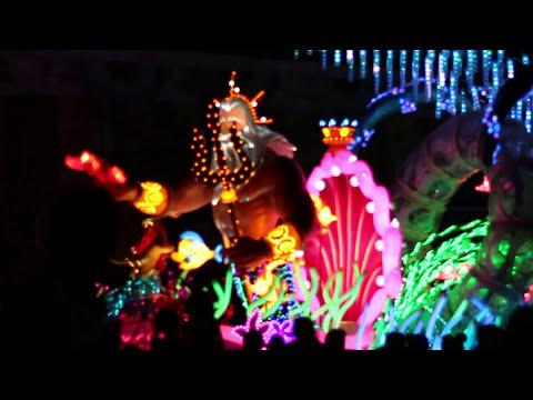 Disneyland Paint the Night Parade 2016 (walking past park staff)