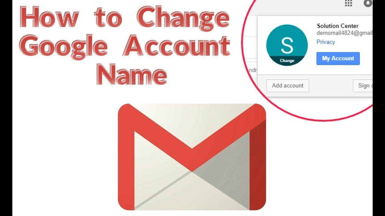 Google account nickname change
