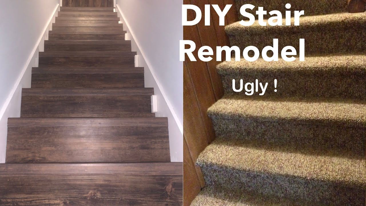 How To Install Vinyl Plank Or Laminate On Stairs Youtube | Wood Look Vinyl Stair Treads | Ceramic Tile | Shaw Floorte | Laminate Flooring | Roppe | Stair Makeover
