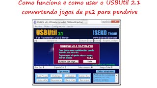 USBUtil convertendo jogos de DVD para Pendrive Playstation 2