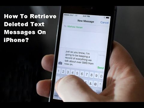 Recovering deleted text messages from phone