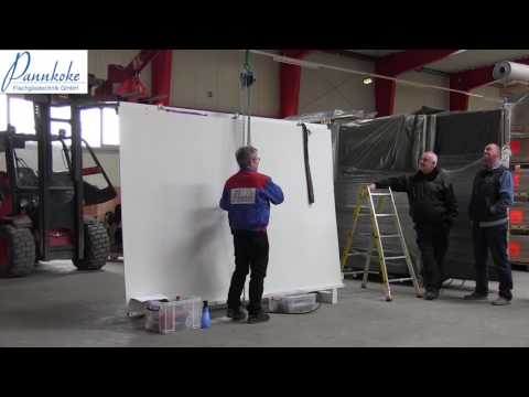 Clips of training at the company Display International using the vacuum lifter 7411-DS7Z