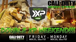 FIRST EVER MODERN WARFARE REMASTERED DOUBLE XP WEEKEND!!!