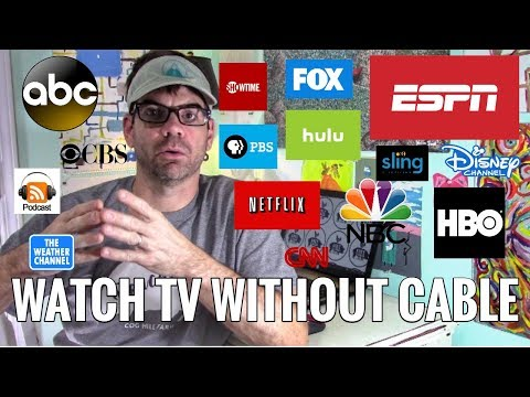 HOW TO CUT THE CORD: How We Cut Out Cable & Satellite & Still Watch Everything  Including SPORTS!