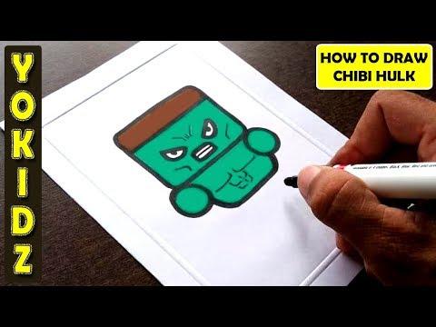 HOW TO DRAW CHIBI HULK #ENDGAME #AVENGERS