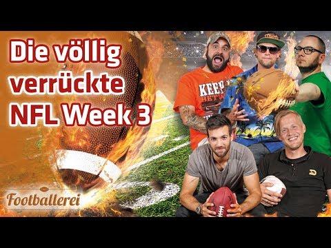 Völlig gaga! Die verrückte NFL Week 3   | Footballerei SHOW