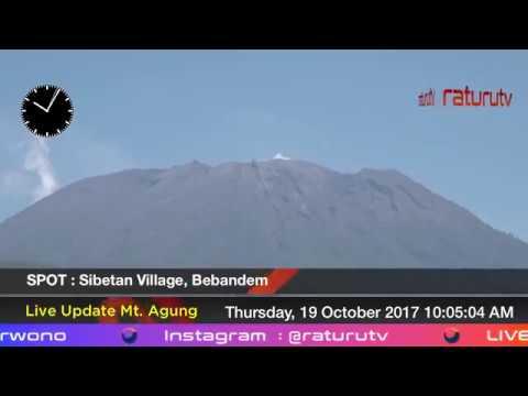 Bali Volcano : Mount Agung – Gunung Agung update real time. 19102017 -I