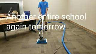 Two days of back to back school cleaning