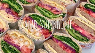 cafe vlog / 샌드위치 포장 어떻게 쉽게 하나요…