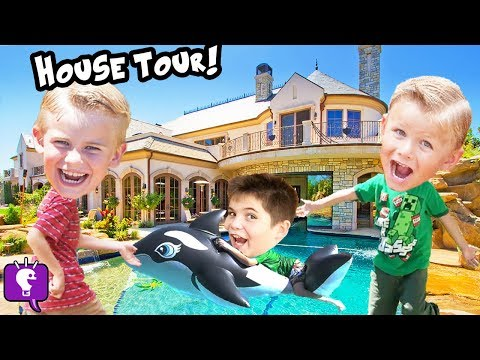 HOUSE TOUR! Adventures Toys EGGS and FUN of Best MEMORIES SHOW HobbyKidsTV