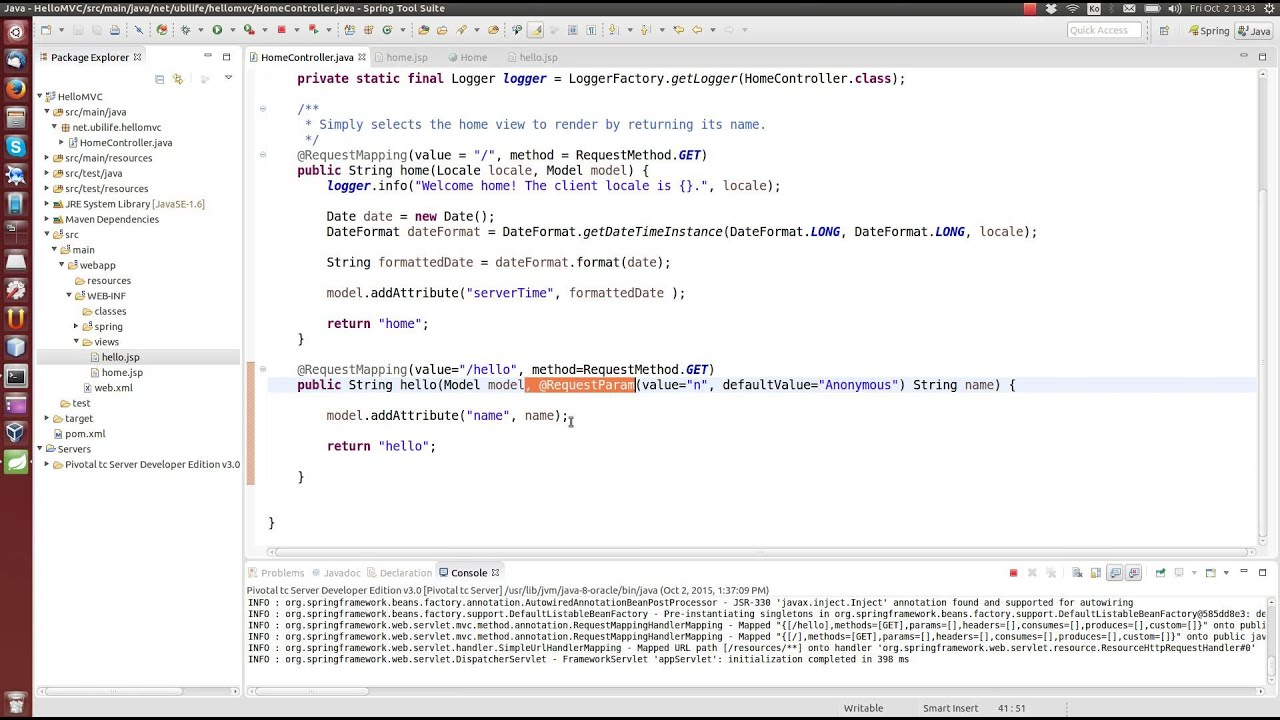Spring framework tutorial 3 spring mvc