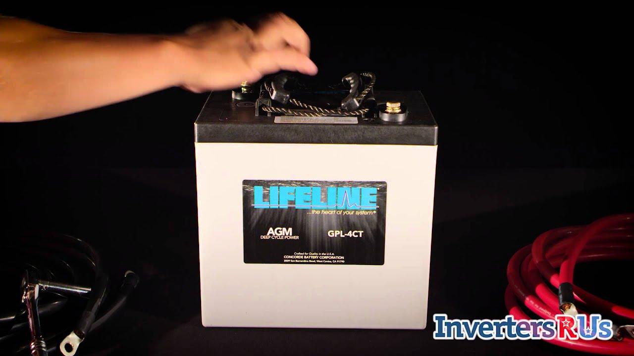 Lifeline GPL 4CT 6 Volt AGM Deep Cycle Battery