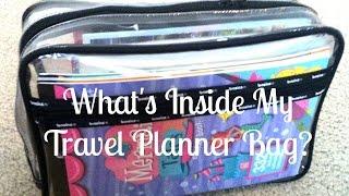What's in my Travel Planner Bag? | Nichellexoxo