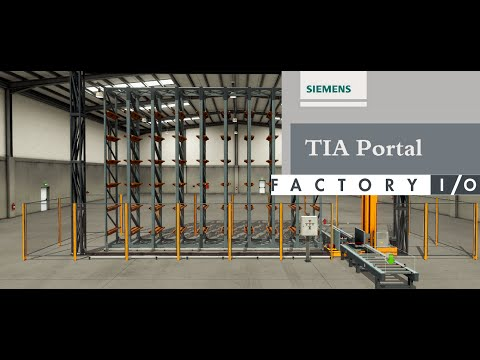 TIA Portal S7 PLCSIM y Factory IO Automated Warehouse