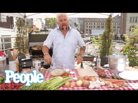 Guy Fieri Grills Up the Perfect Summer Steak Skewers | People