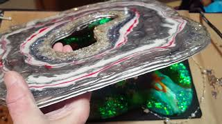 FreeForm Geode Part 3 How to Finish the Sides and Displaying in a Shadow Box