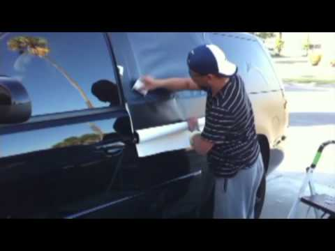 Matte black vinyl wrap on Tahoe 2010 - YouTube