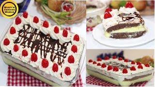 ঈদে তৈরি করুন সম্পূর্ন নতুন এবং মজাদার ডেজার্ট ব্লাক ফরেস্ট কাস্টার্ড কেক॥Black Forest Custard Cake