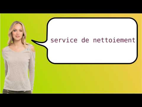 How to say 'cleansing department' in French?