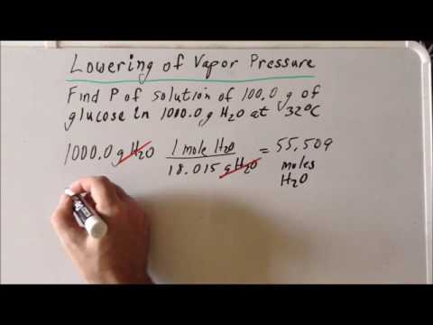Colligative Properties: Vapor Pressure Lowering Problem