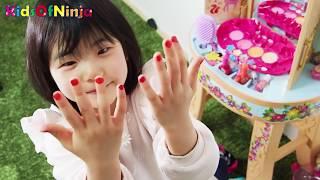 お化粧おもちゃで大変身!?ごっこ遊び Kids pretend play makeup toys