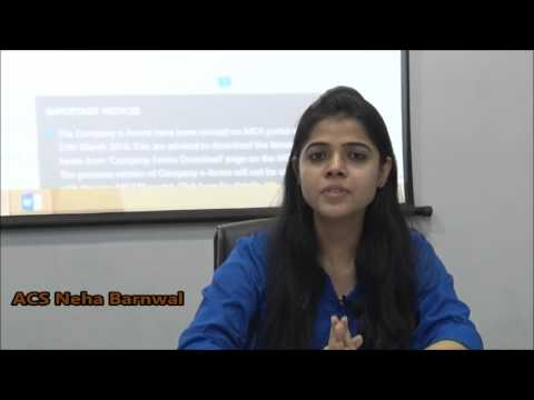 Practical aspects of Ministry Of Corporate Affairs MCA & its Services by CS Neha Barnwal