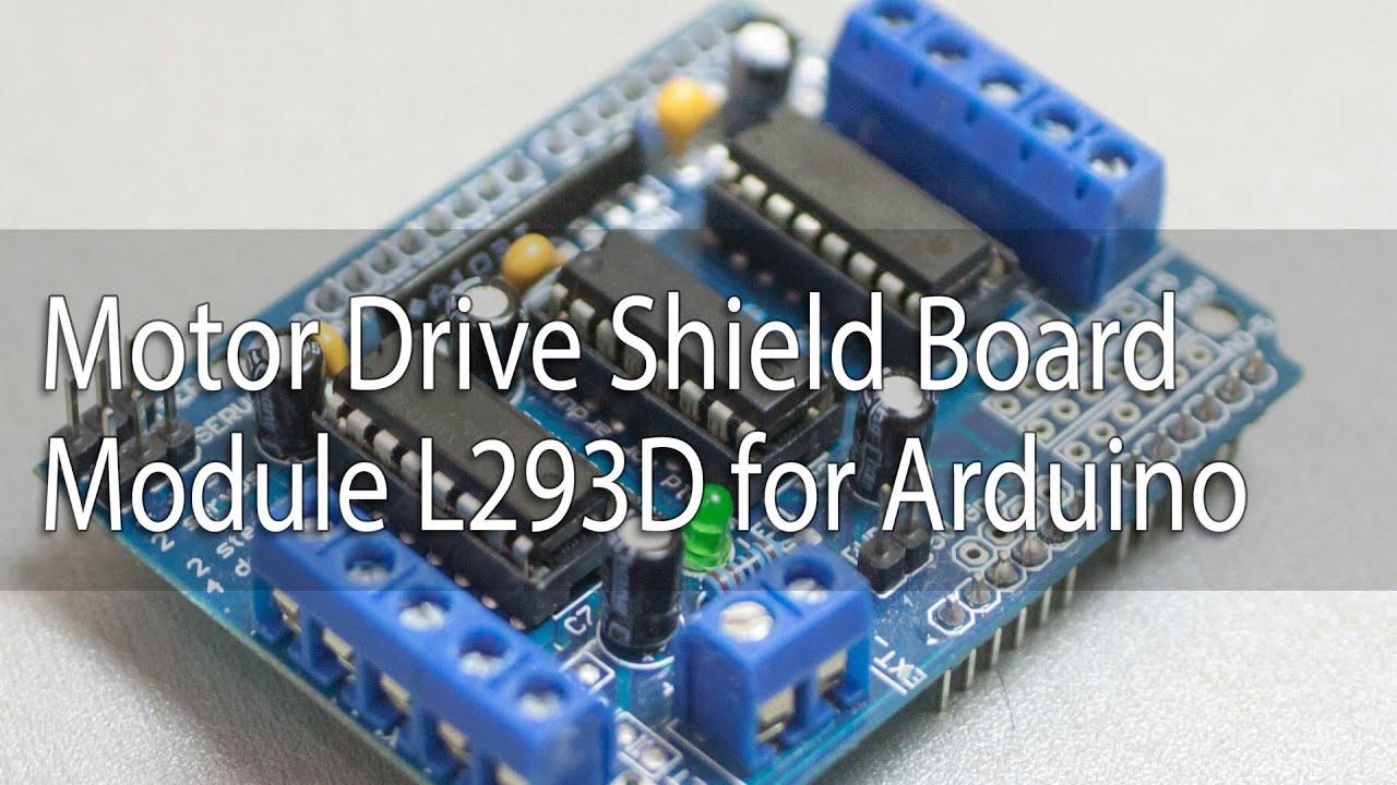 <b>Motor</b> Drive Shield <b>Board Module</b> L293D for Arduino - YouTube
