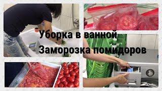 Мотивация на уборку в ванной/Уборка по зонам/Заморозка помидоров