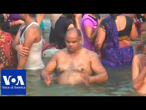 Thousands take holy dip in river Ganges to mark Hindu festival