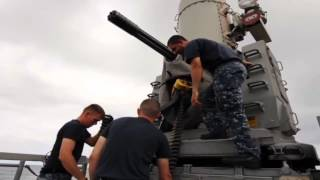 Raytheon - Phalanx Close-In Weapon System CIWS Amp SeaRAM Anti-Ship Missile Defense System 480p