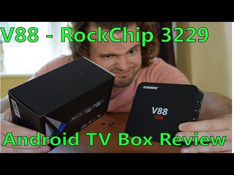 RUBBISH V88 - ROCKCHIP 3229 ANDROID TV UNBOXING / REVIEW - Possibly Dangerous, Don't bother !