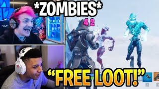 Streamers REACT To NEW ZOMBIES Ice Storm In Fortnite Daily Moments Highlights ( Myth & Ninja )