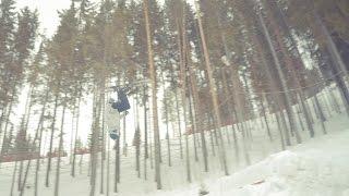 [First backflip on skis] Первый бэкфлип на лыжах