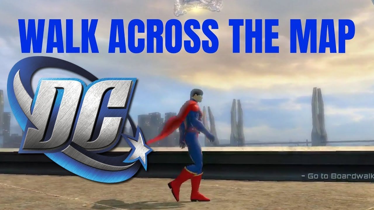 HOW BIG IS THE MAP in DC Universe Online? Walk Across the Map - YouTube