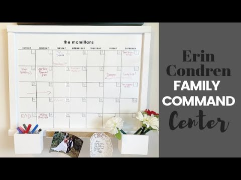 OUR NEW FAMILY COMMAND CENTER! Erin Condren Wall Organization Center