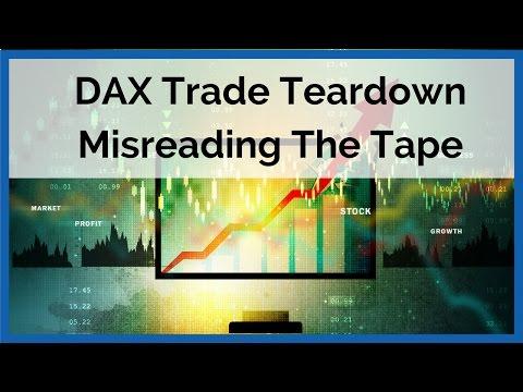 DAX Trade Teardown - Misreading The Market