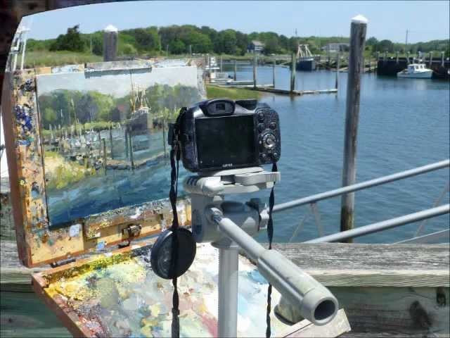 Plein Air Painting, Rock Harbor, Cape Cod, MA
