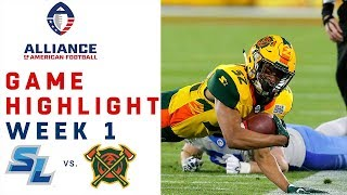 Salt Lake Stallions vs. Arizona Hotshots | AAF Week 1 Game Highlights