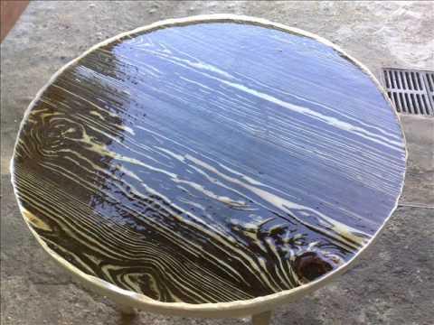 Diy Homemade Metal  wood  epoxy art  table
