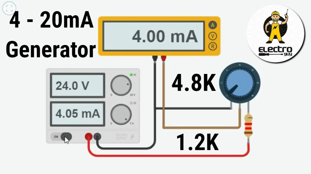 4 20ma signal generator circuit for 24VDC Devices