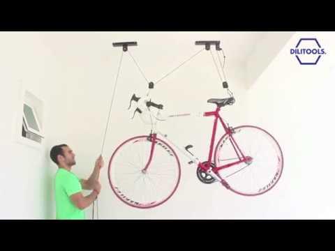 Soporte Rack Para Colgar Bicicletas Del Techo Youtube - Colgar-bici-techo