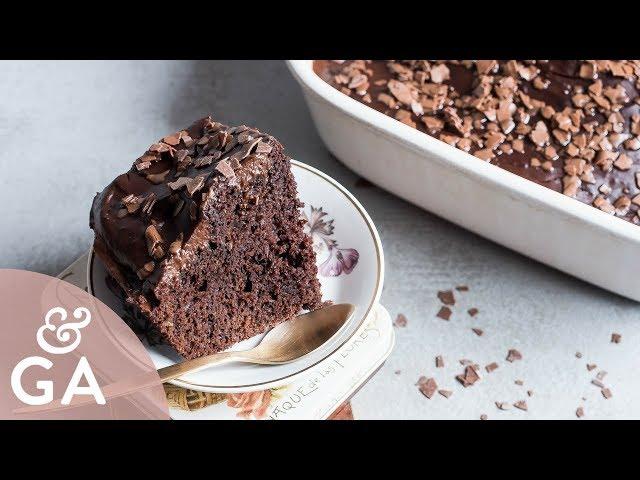 Bizcocho de calabacín y chocolate   Casero, super esponjoso y húmedo