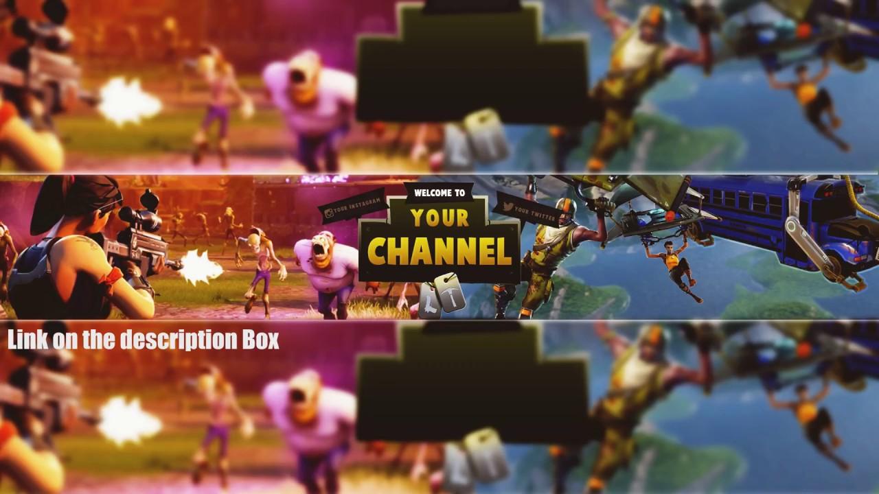 Best Fortnite Banner Template Ever Youtube Banner Template