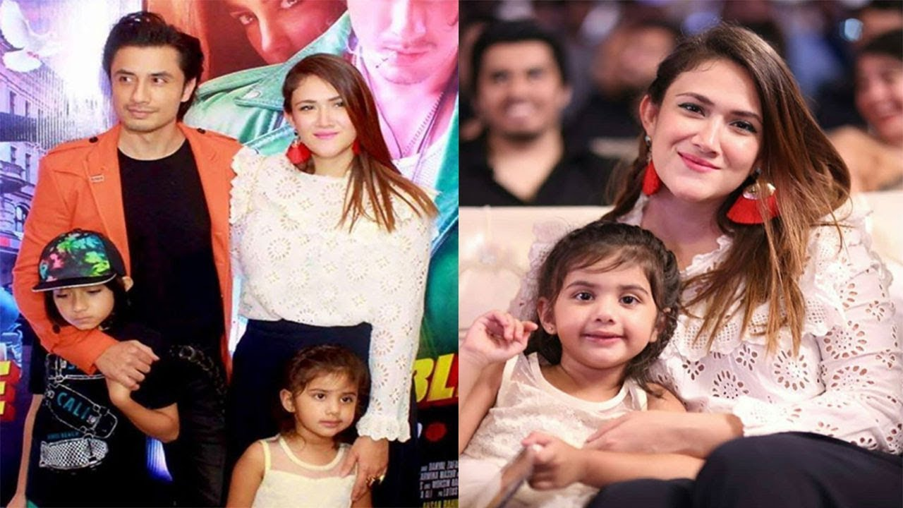 Ali Zafar with his Wife & Kids at the Trailer Launch of his Film ...