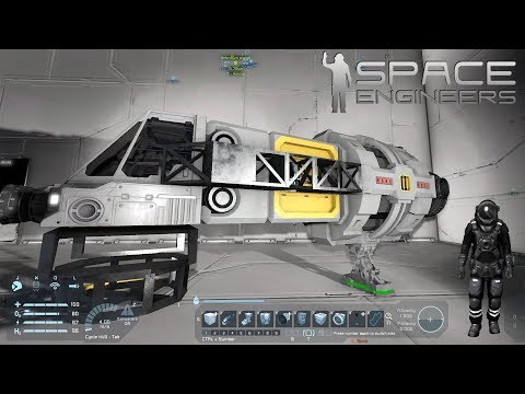 Space engineers Med Benny EP8 - VI VISER JER HVORDAN MAN BYGGER SKIBE !