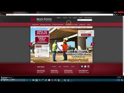 How to use OneDrive Instructional Video For Mid State Technical College Written Communication