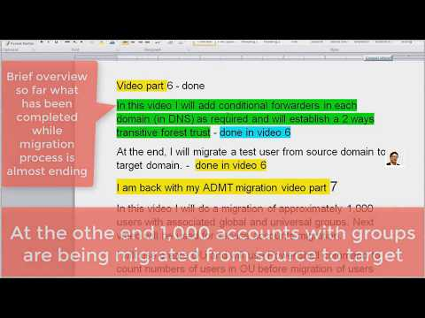 ACTIVE DIRECTORY Migration project Part 7 by Enayat Meer