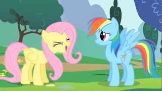 Rainbow Dash & Fluttershy - The elements of a good cheer (full scene)