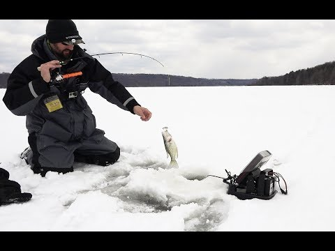 Ice Fishing Lake Wilhelm 2019 Catching STACKED Crappie And Bluegill - Western Pennsylvania Hardwater