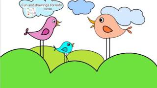 How To Draw Birds In A Tree For Kids